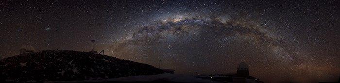Ein glitzerndes Band von Sternen – die südliche Milchstraße über La Silla