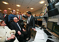 The President of the Czech Republic in the VLT Control Room