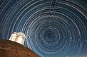 Star trails over the ESO 3.6-metre telescope