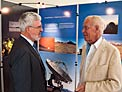 Joachim Krautter and Lodewijk Woltjer at the ESO stand at JENAM 2010