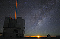Moon rise at the Very Large Telescope