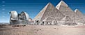 E-ELT and VLT vs Giza Pyramids (artist's impression)