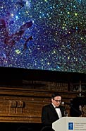 Xavier Barcons and the Eagle Nebula at the ESO 50th Anniversary Gala Event