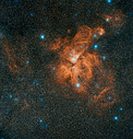 Digitized Sky Survey Image of Eta Carinae Nebula