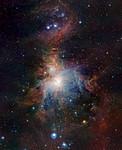 VISTA-Infrarotaufnahme des Orionnebels