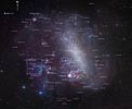 The entire Large Magellanic Cloud with annotations