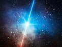 Artist's impression of a dark gamma-ray burst