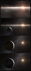 Artist's impression of the development of the Solar System