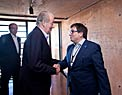 Juan Carlos I, King of Spain, and Xavier Barcons, the President of the ESO Council