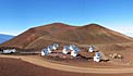 De Submillimeter Array (SMA) op Mauna Kea (Hawaï)