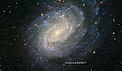 VLT image of the spiral galaxy NGC 1187 (annotated)