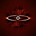SPHERE obtiene imágenes del anillo de polvo alrededor de la estrella HR 4796A