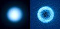 Titán, una de las lunas de Saturno, observada utilizando el modo de polarimetría del instrumento SPHERE