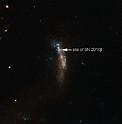La galaxia enana UGC 5189A, formación que alberga a la supernova SN 2010jl (con referencia)