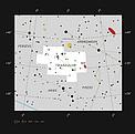 Messier 33 en la constelación septentrional de Triángulo