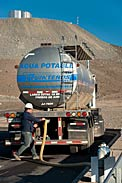 Delivery of water at Paranal