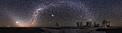 Verfinsterter Mond, herrlicher Sternhimmel