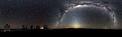 Seltenes 360°-Panorama des Südsternhimmels