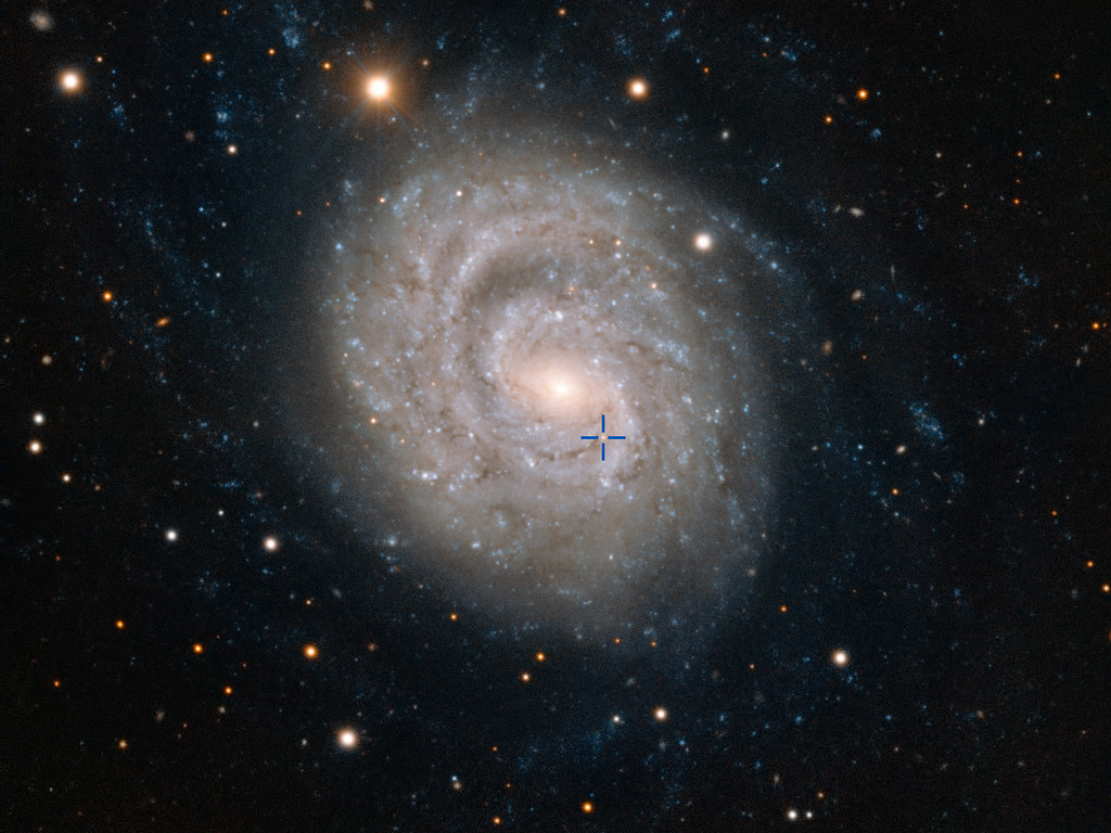Eftergløden fra SN 1999em i galaksen NGC1637