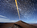 Trails of Stars over Paranal