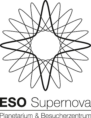 ESO Supernova logo black (in German)