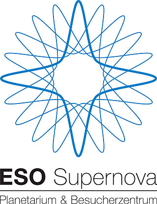 ESO Supernova logo blue (in German)