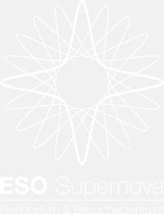 ESO Supernova logo white (in German)