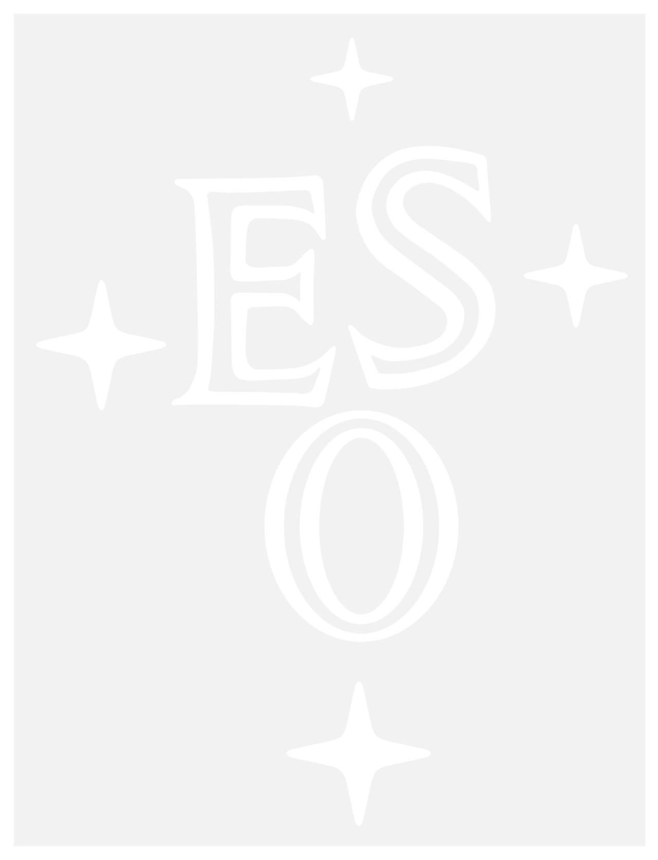 eso logo outline white with transparent background eso ireland