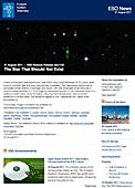 ESO Science Release eso1132 - The Star That Should Not Exist