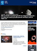 ESO — ESO contributes to protecting Earth from dangerous asteroids — Organisation Release eso1910