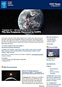 ESO Science Release eso1134 - Fifty New Exoplanets Discovered by HARPS