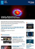 ESO Science Release eso1401 - ALMA Spots Supernova Dust Factory