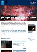 ESO Photo Release eso1403 - Sneak Preview of Survey Telescope Treasure Trove — VST images the Lagoon Nebula