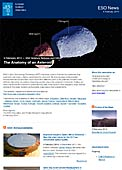 ESO Science Release eso1405 - The Anatomy of an Asteroid