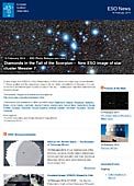 ESO Photo Release eso1406-en-ie - Diamonds in the Tail of the Scorpion — New ESO image of star cluster Messier 7