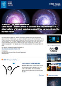 ESO — Dark Matter Less Influential in Galaxies in Early Universe — Science Release eso1709