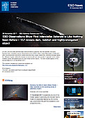ESO — ESO Observations Show First Interstellar Asteroid is Like Nothing Seen Before — Science Release eso1737