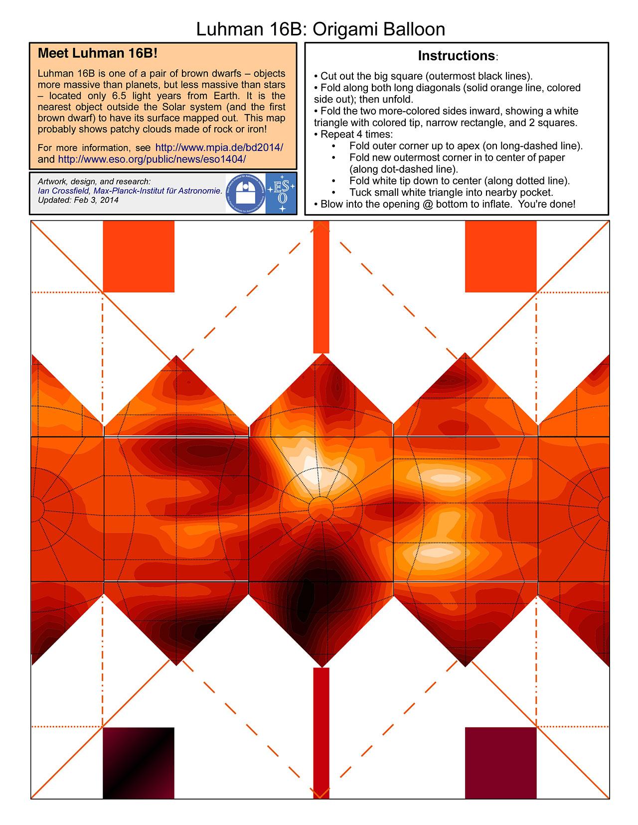 Luhman 16b Origami Balloon Eso
