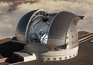 Postcard: The E-ELT (European Extremely Large Telescope)