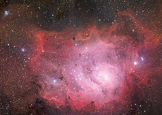 Postcard: The Lagoon Nebula