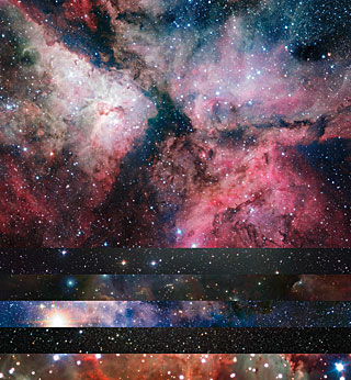 Postcards set with 6 astronomical images (new)