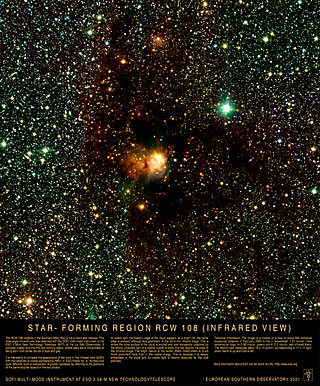 Poster: The RCW 108 Star-Forming Region (Infrared View)