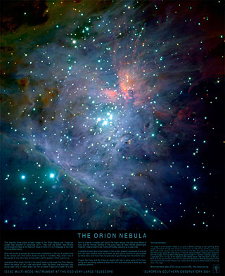 Poster: The Orion Nebula (Infrared View)