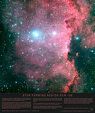 Poster: Star-forming Region RCW 108
