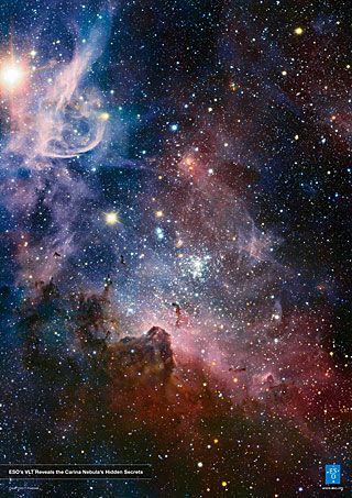 Poster: ESO's VLT reveals the Carina Nebula's Hidden Secrets
