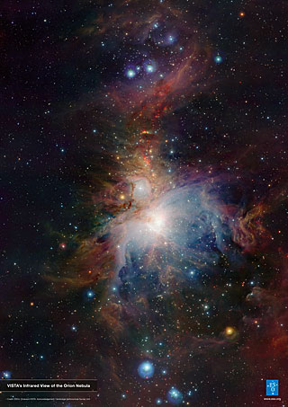 Poster: VISTA's infrared view of the Orion Nebula