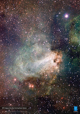 Poster: VST Image of the Star-forming Swan Nebula