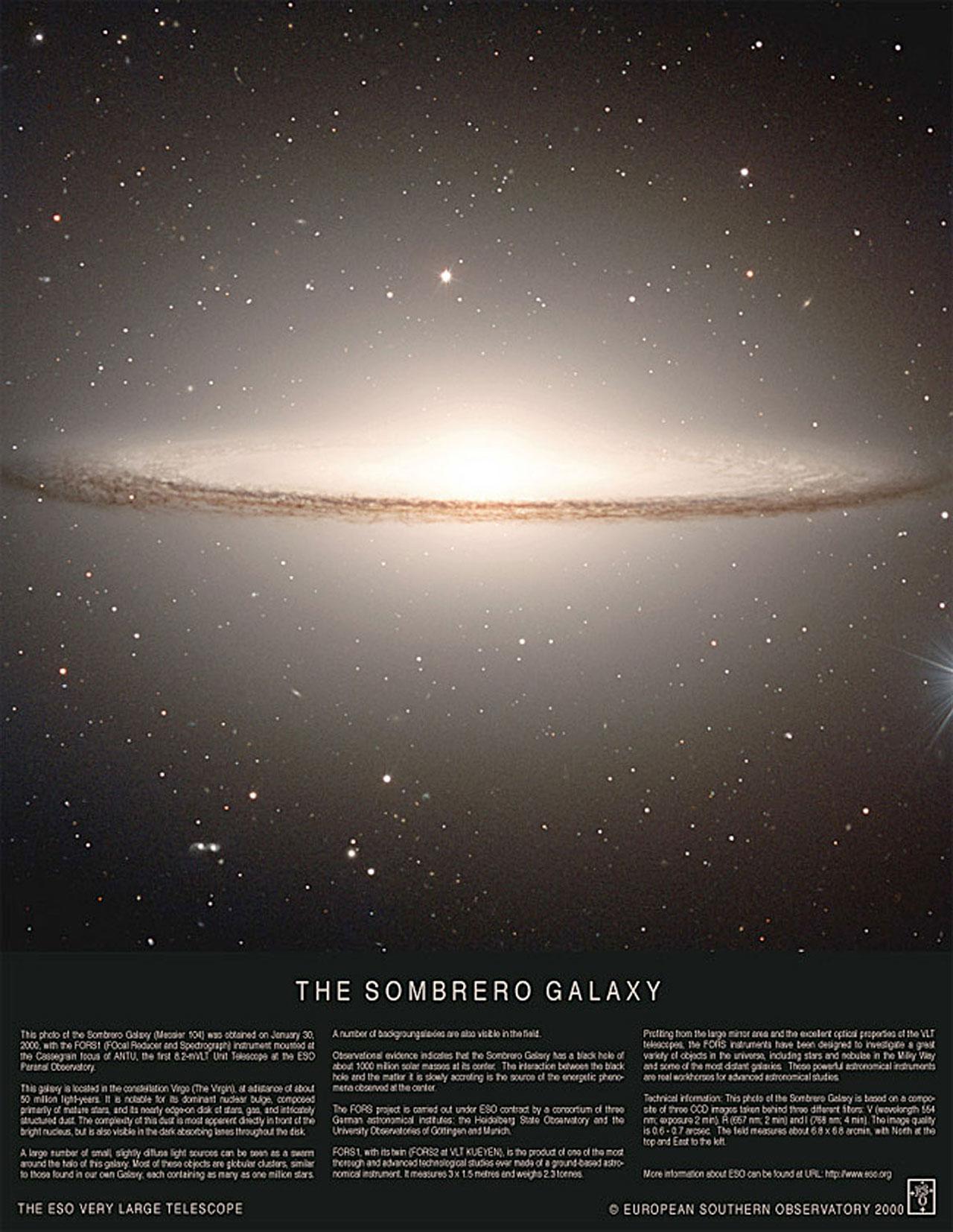 poster  the sombrero galaxy