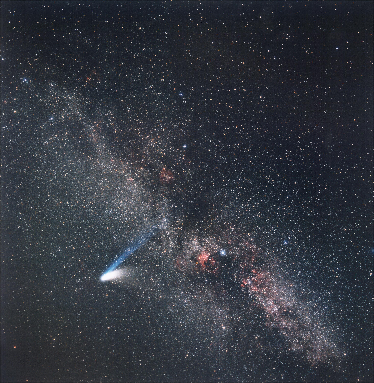 comet hale bopp images by eckhard slawik march 10 1997 eso. Black Bedroom Furniture Sets. Home Design Ideas