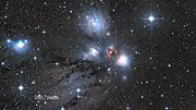 Infrared/visible crossfade of the Monoceros R2 star-forming region